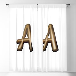 Chocolate Letter A Blackout Curtain