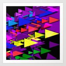 Triangle Art Deco Art Print