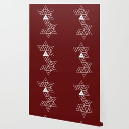 Red Unrolled D20 Wallpaper
