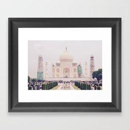 Beautiful man-made wonder Taj Mahal Framed Art Print