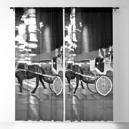 NYC - Yellow Cabs - Horse Carriage Blackout Curtain