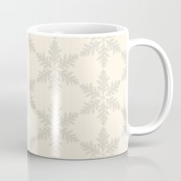 Snowflake foliage cream beige Coffee Mug