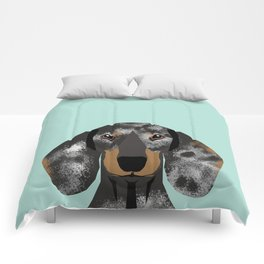 Doxie Dachshund merle dapple dog cute must have dog accessories dog gifts cute doxies dachshunds des Comforters
