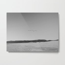 HALF MOON BAY IV (B+W) Metal Print