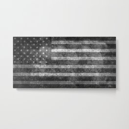 Star Spangled Banner in Grayscale Metal Print