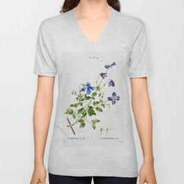 Chinese Glory Bower (Volkameria fragrans) from Traite des Arbres et Arbustes que lon cultive en Fran Unisex V-Neck