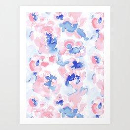 Abstract Flora Pastel Wandering Art Print