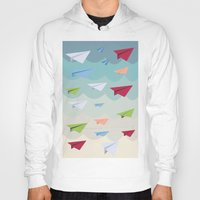 planes Hoodies featuring Paper Planes by irayflo