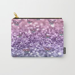 Pastel Unicorn Butterfly Glitter Dream #3 #shiny #decor #art #society6 Carry-All Pouch