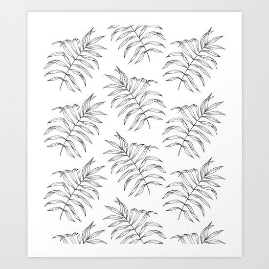 Palm Leaves Pattern Art Print
