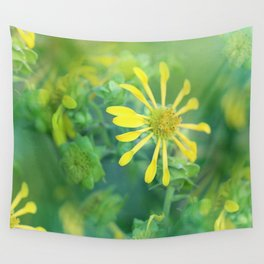 Yellow Pinwheel Flowers Wall Tapestry