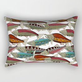 Alaskan salmon white Rectangular Pillow