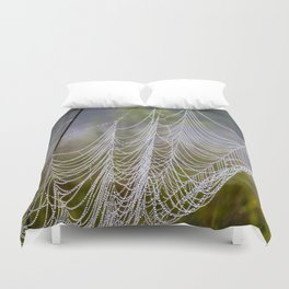 web in the field Duvet Cover