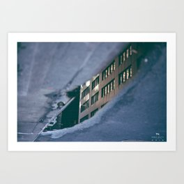 Building in the Puddle Art Print