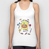 dentist Tank Tops featuring I hate dentist by PINT GRAPHICS