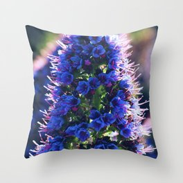 Coastal Purple Flowers Throw Pillow
