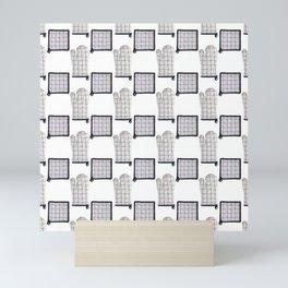 Oven Glove and Pot Mitt Holder Polka Dot Pattern Mini Art Print