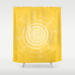 Ripples_Yellow Shower Curtain