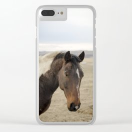 Horse Portrait II Clear iPhone Case