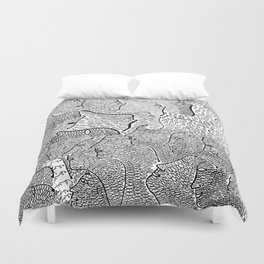 The Little Mermaid by Hans Christian Andersen & Yayoi Kusama: A Fairy Tale of Infinity and Love For Duvet Cover