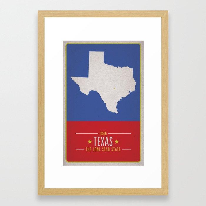 TEXAS Framed Art Print by matthewjustinrupp   Society6