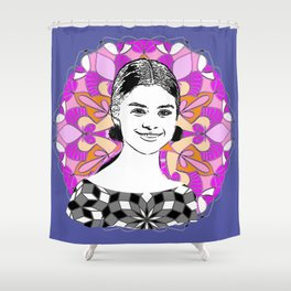 Sel in the stars Shower Curtain