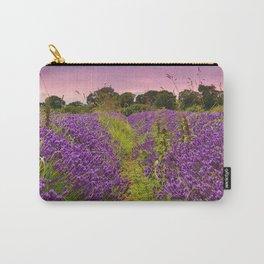 A Norfolk Lavender Field, UK  (Lavandula) Carry-All Pouch