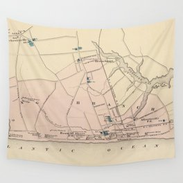 Vintage Map of Long Branch NJ (1872) Wall Tapestry
