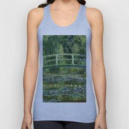 Water Lilies and Japanese Footbridge, Claude Monet Unisex Tank Top