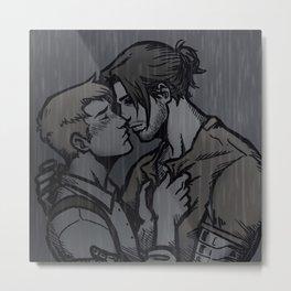 Rain Stucky Metal Print