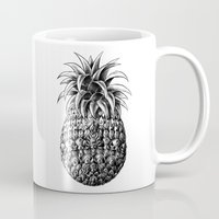 ornate Mugs featuring Ornate Pineapple by BIOWORKZ