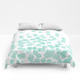 Scattered Glitter Dots in mint, green, pistachio, cool girly cute colors for trendy cell phone case Comforters