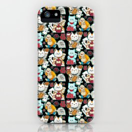 Super Lucky Pattern in Black iPhone Case
