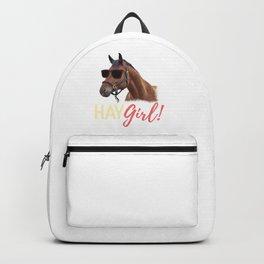 Hay Girl Horse Lover Horseback Riding Backpack