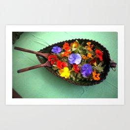 Flowery salad Art Print
