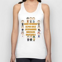 dwight Tank Tops featuring Dwight Schrute Two Words by Alex Dutton