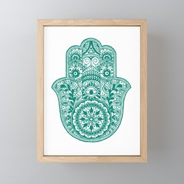 Hamsa | Hand of Fatima | Globetrotter Framed Mini Art Print