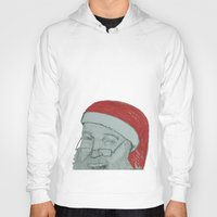 santa Hoodies featuring Santa by unicorned