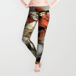 Jacques-Louis David - Napoleon crossing the Alps - Digital Remastered Edition Leggings