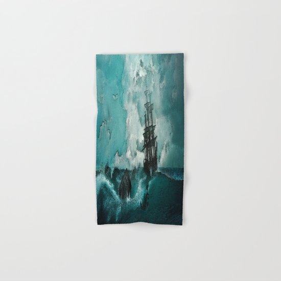 Ship painted Hand & Bath Towel
