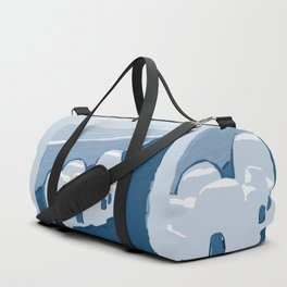 Labyrinth on the Shore, Sketch, Cyanotype Duffle Bag