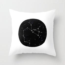 Sagittarius constellation zodiac star sign black and white minimal art Throw Pillow