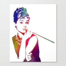 Audrey Hepburn Breakfast at Tiffany's Canvas Print