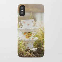 Three lonely teacups iPhone Case