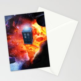 Space Tardis Stationery Cards
