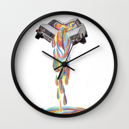 Leaking colour Wall Clock