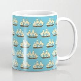 Merchant Ships - Aqua Coffee Mug