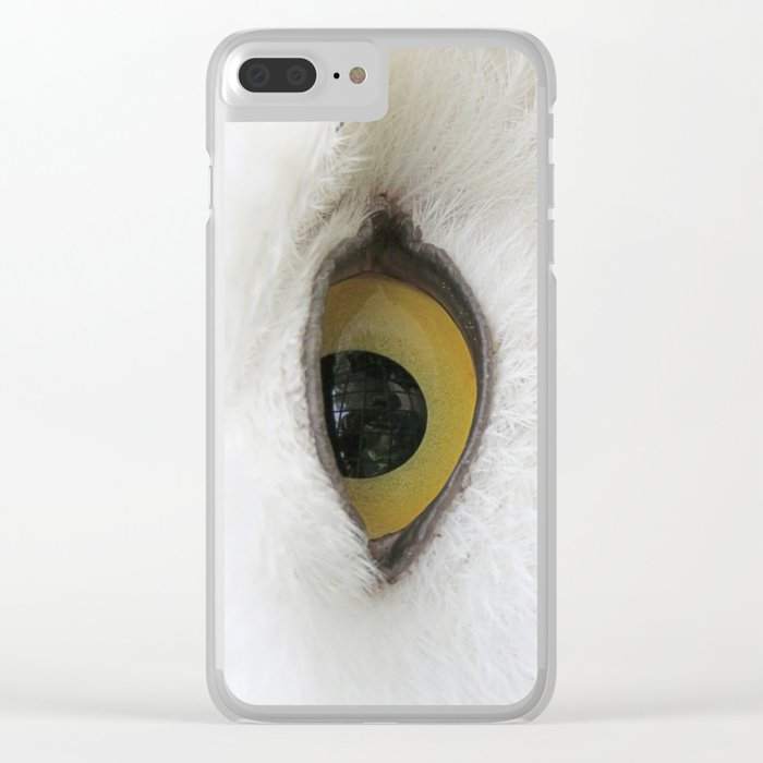 In the eye of a snow owl Clear iPhone Case