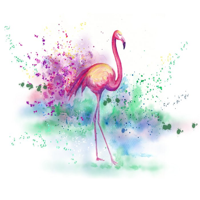 Messy Flamingo Duvet Cover
