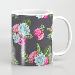 Flower Pattern Coffee Mug